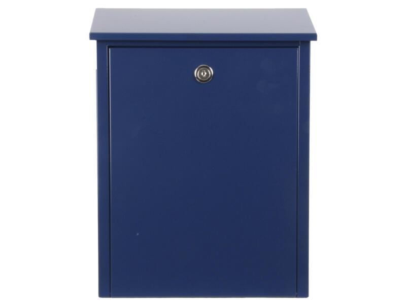 Allux 200 boîte aux lettres eurolock acier galvanisé bleu
