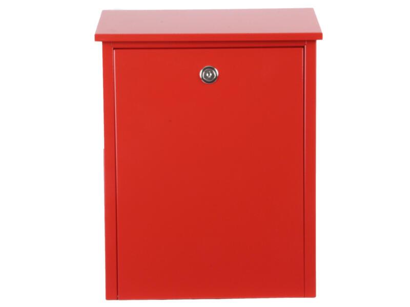 Allux 200 boîte aux lettres eurolock acier galvanisé rouge