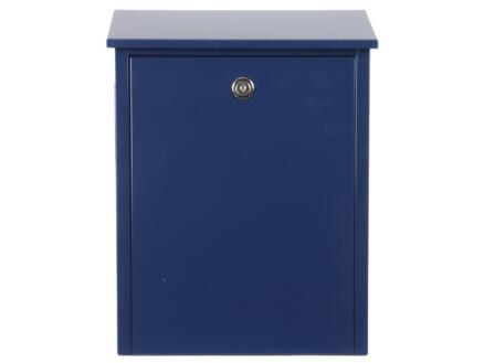 Allux 200 brievenbus eurolock gegalvaniseerd staal blauw