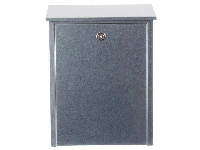 Allux 200 brievenbus eurolock gegalvaniseerd staal grijs