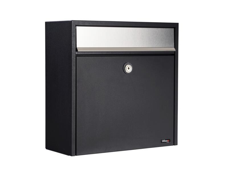 Allux 250 brievenbus gegalvaniseerd staal zwart