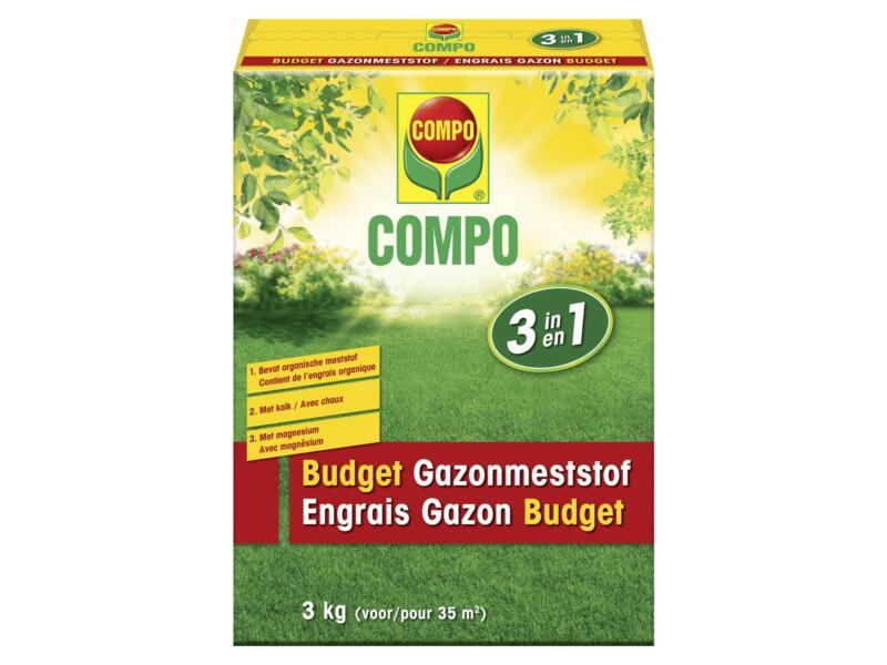 Compo 3-en-1 budget engrais gazon 3kg
