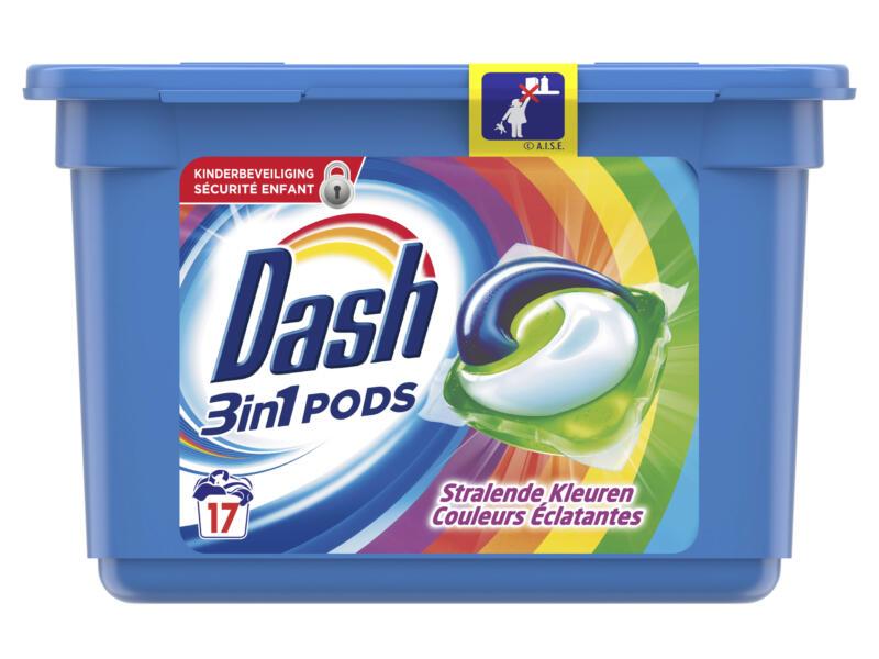 Dash 3-en-1 capsule lessive de couleur 17 tabs