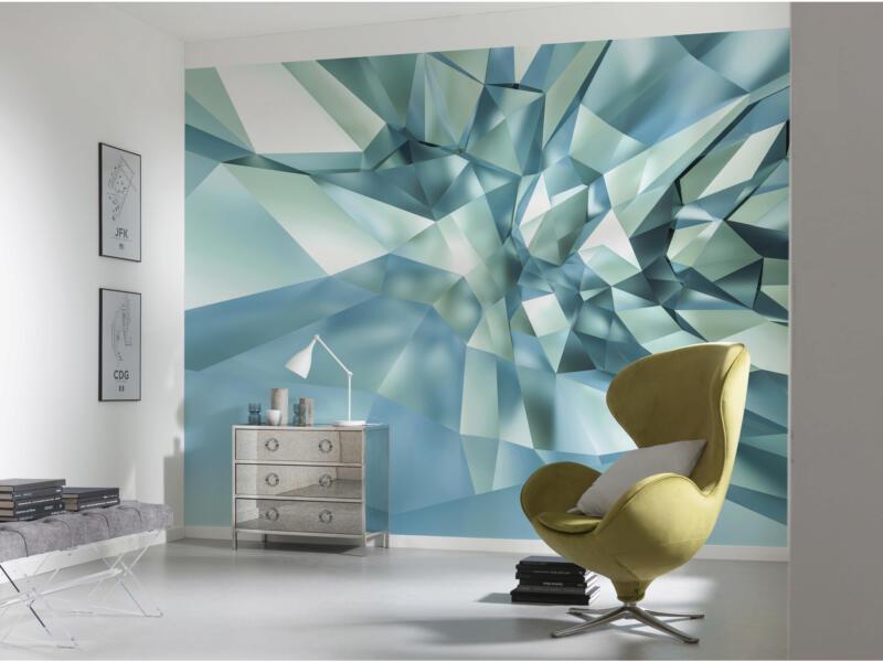 3D Crystal Cave papier peint photo 8 bandes