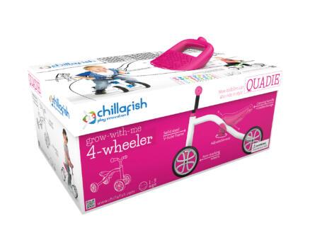 4 Wheel Bike Quadie loopfiets roze