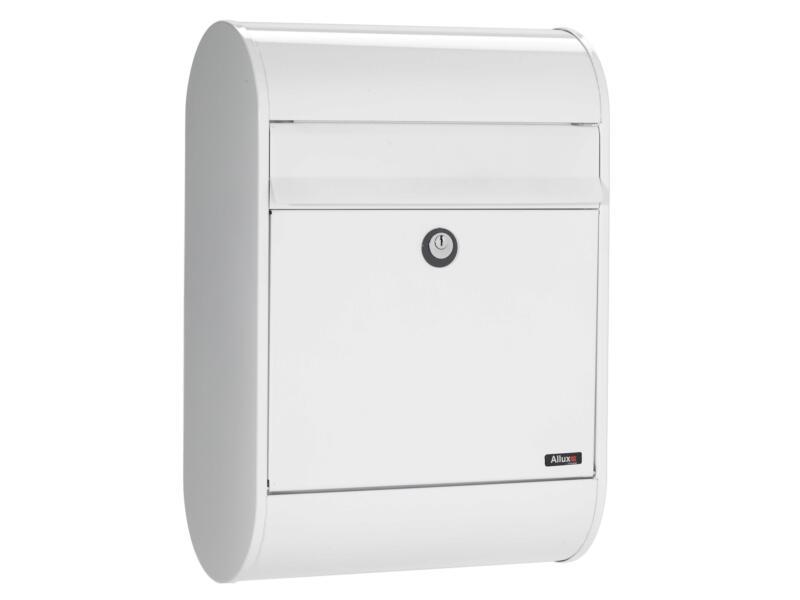 Allux 5000 HK brievenbus eurolock gegalvaniseerd staal wit