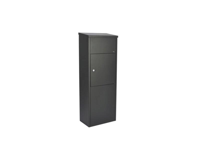 Allux 600 pakketbrievenbus gegalvaniseerd staal zwart