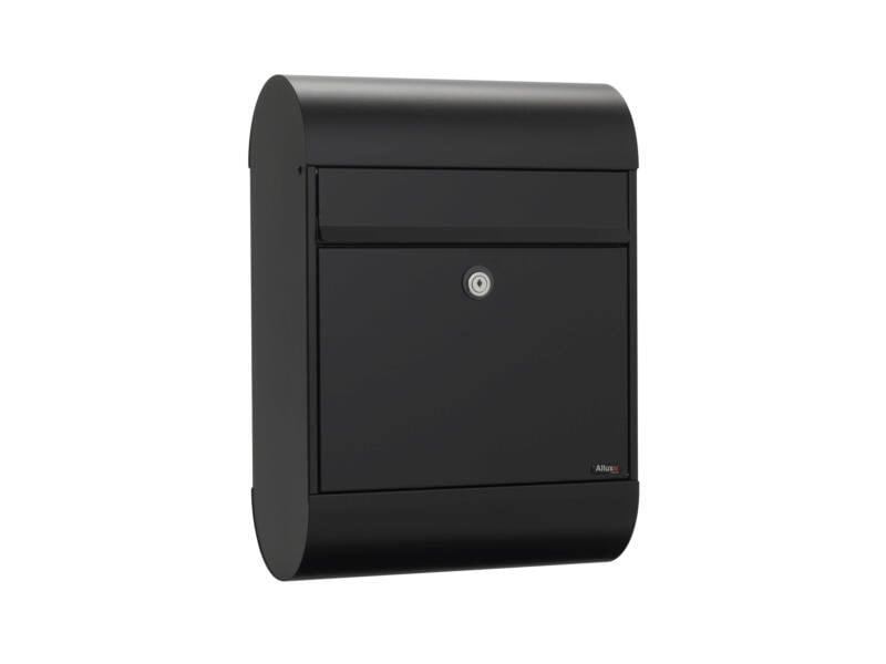 Allux 6000 SK brievenbus eurolock gegalvaniseerd staal zwart