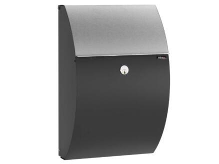 Allux 7000 RS boîte aux lettres acier galvanisé/inox noir