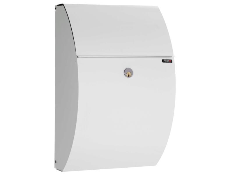 Allux 7000 brievenbus gegalvaniseerd staal wit