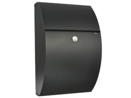 Allux 7000 brievenbus gegalvaniseerd staal zwart