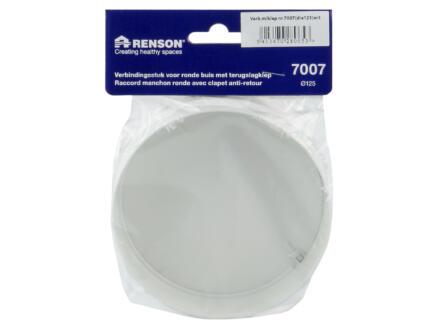 Renson 7007 manchon avec clapet anti-retour 125mm blanc