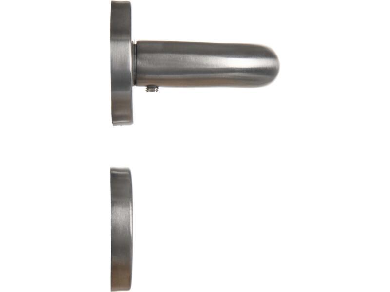 7312 deurklinkset op rozet 50mm inox