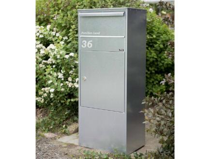 Allux 800 pakketbrievenbus gegalvaniseerd staal grijs