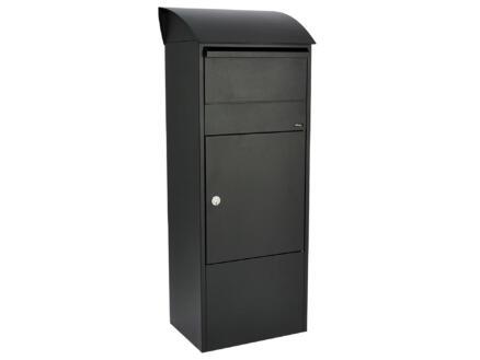 Allux 820 boîte aux lettres et à colis acier galvanisé noir