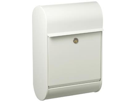 Allux 8900 boîte aux lettres acier galvanisé blanc