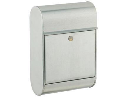 Allux 8900 boîte aux lettres acier galvanisé gris