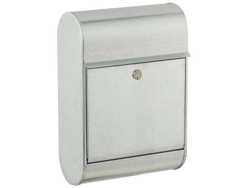 Allux 8900 brievenbus gegalvaniseerd staal grijs