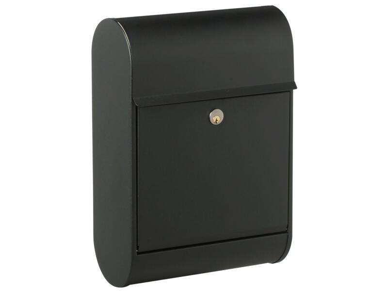 Allux 8900 brievenbus gegalvaniseerd staal zwart