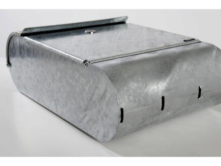 Allux 9000 brievenbus gegalvaniseerd staal grijs