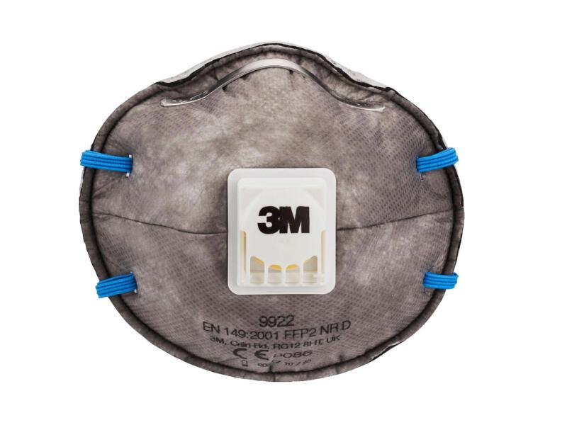 3M 9922C2N stofmasker geurvermindering met ventiel FFP2 2 stuks