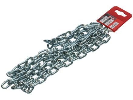 Sam A40 chaîne forgée maillon court 2m 4mm zingué
