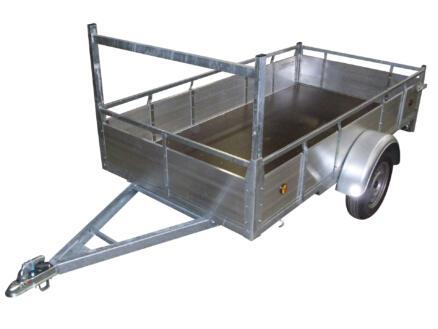 Aanhangwagen 257x132 cm aluminium 1-assig