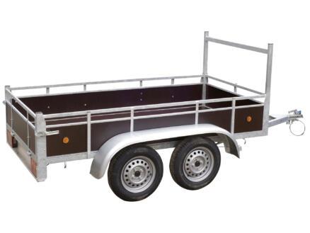 Aanhangwagen 300x132 cm dubbele as