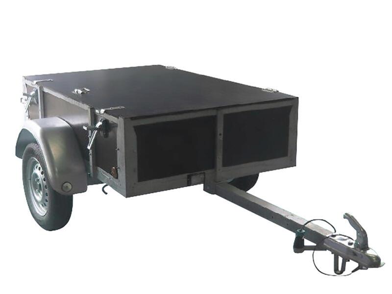 Aanhangwagen met klep 125x200x35 cm