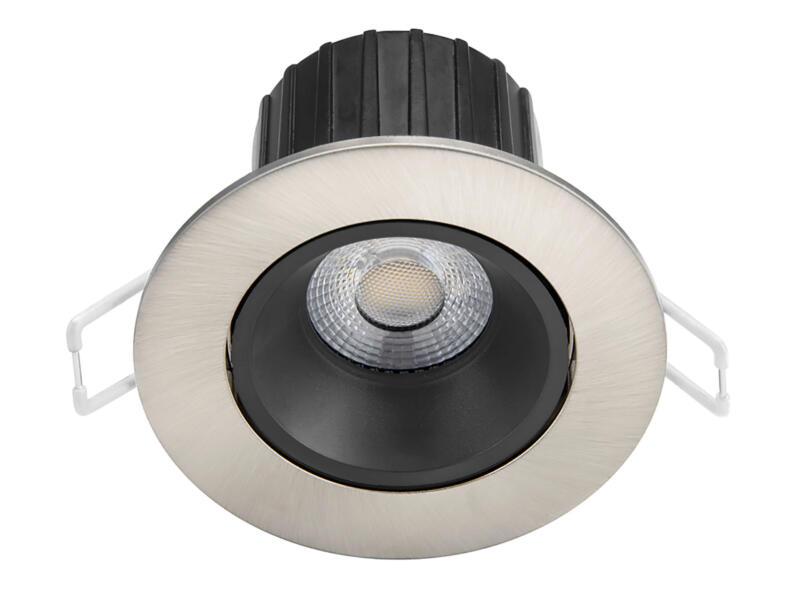 Philips Abrosa LED inbouwspot reflector 9W dimbaar nikkel grijs
