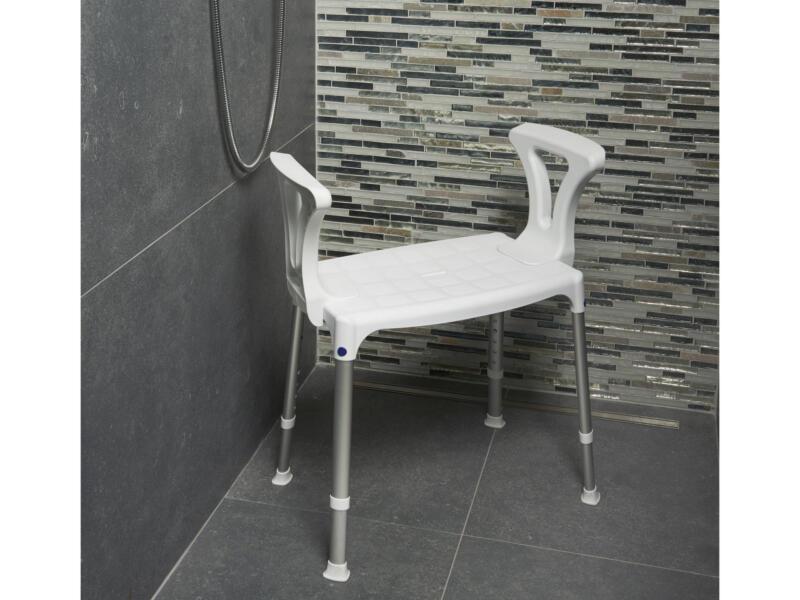 Accoudoir pour siège douche Quattro blanc 2 pièces