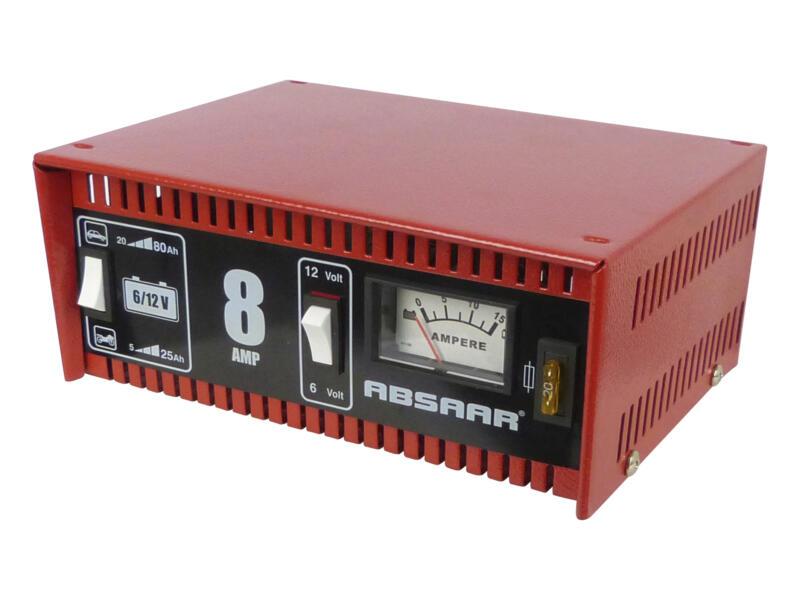 Absaar Acculader 6/12V 8A