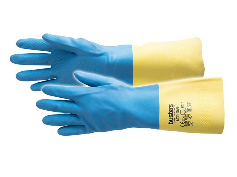 Busters Acid Safe gants de ménage S/M latex bleu
