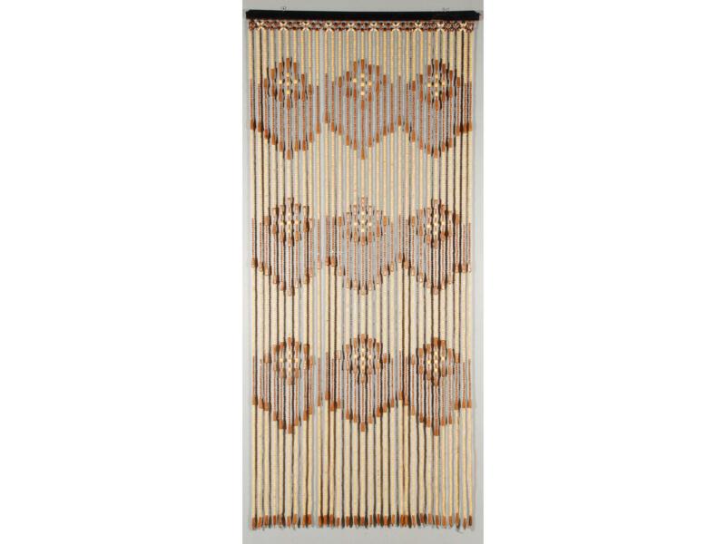 Confortex Acropole deurgordijn hout 90x200 cm