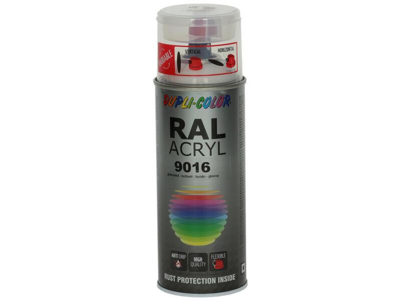Dupli Color Acryl lakspray hoogglans 0,4l verkeerswit