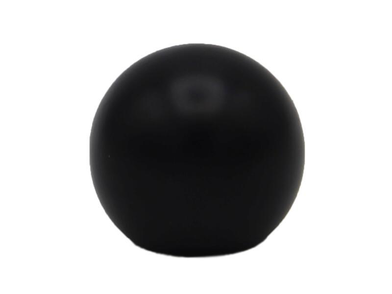 Ad Ball eindknop gordijnroede 20mm zwart 2 stuks
