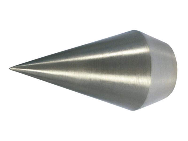 Ad Point eindknop punt gordijnroede 20mm inox look 2 stuks