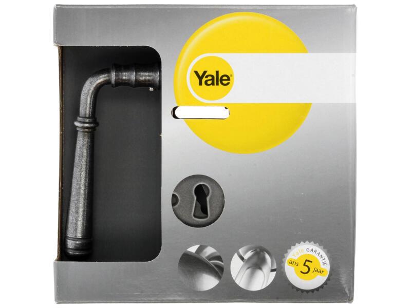 Yale Addo BB deurklinkset staal grijs