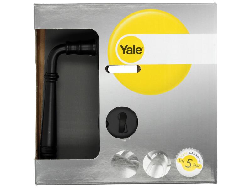 Yale Addo BB deurklinkset staal zwart