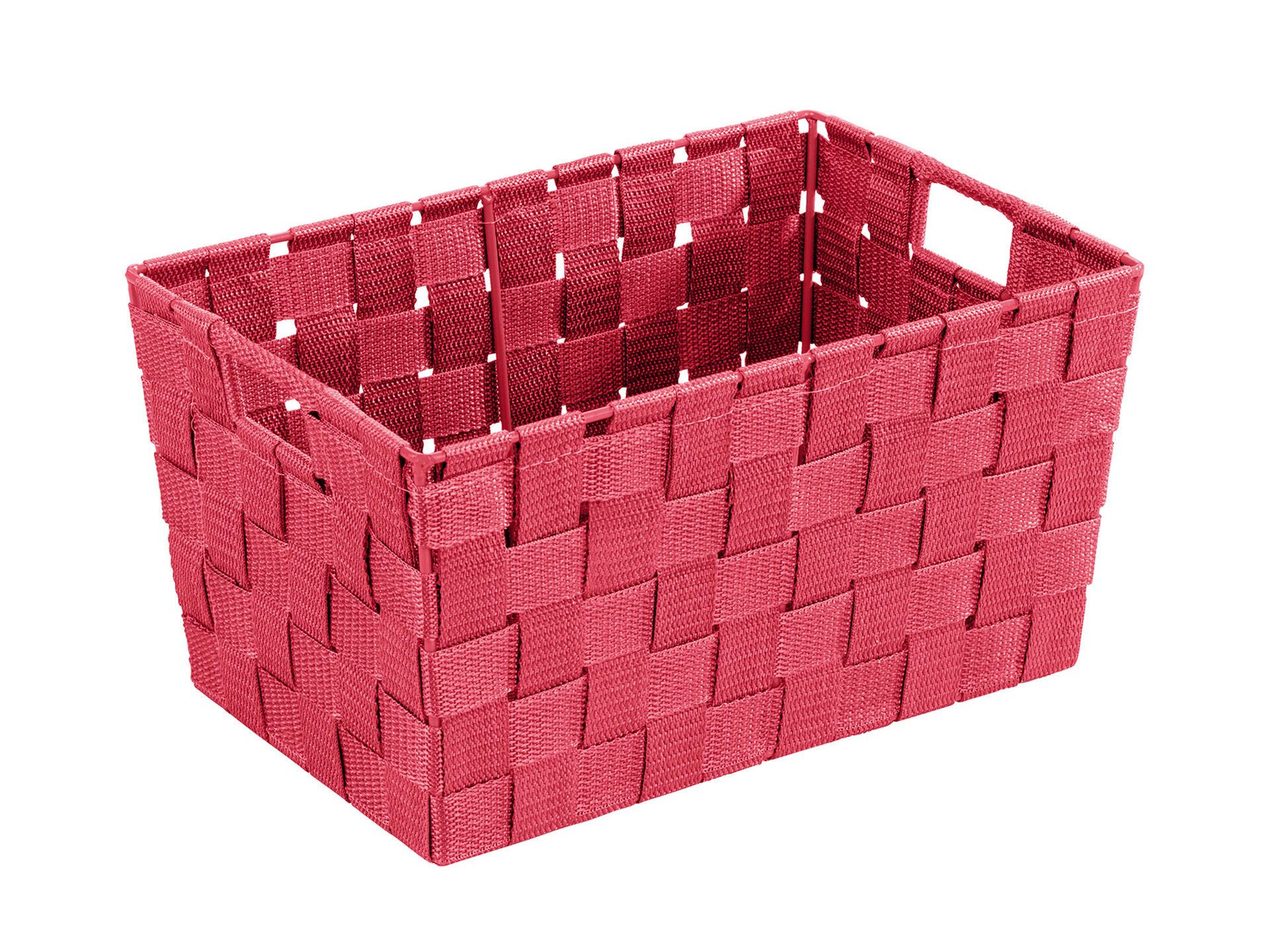 Wenko Adria Small panier de rangement 30x20x15 cm rouge | Hubo