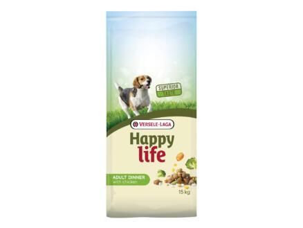 Happy Life Adult Dinner croquettes chien poulet 15kg