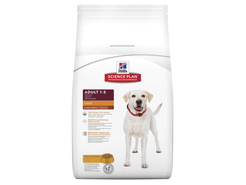 Hill's Adult Light Large Breed hondenvoer chicken 12kg