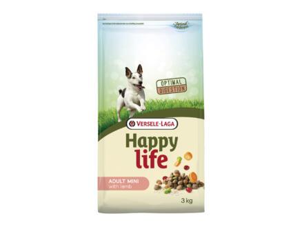 Happy Life Adult Mini croquettes chien agneau 3kg
