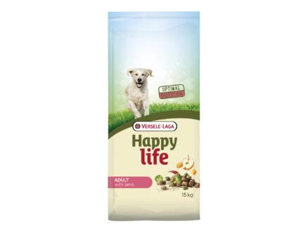 Happy Life Adult croquettes chien agneau 15kg