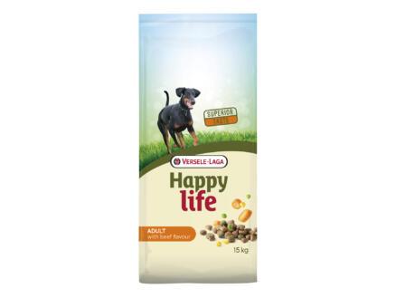 Happy Life Adult croquettes chien boeuf 15kg