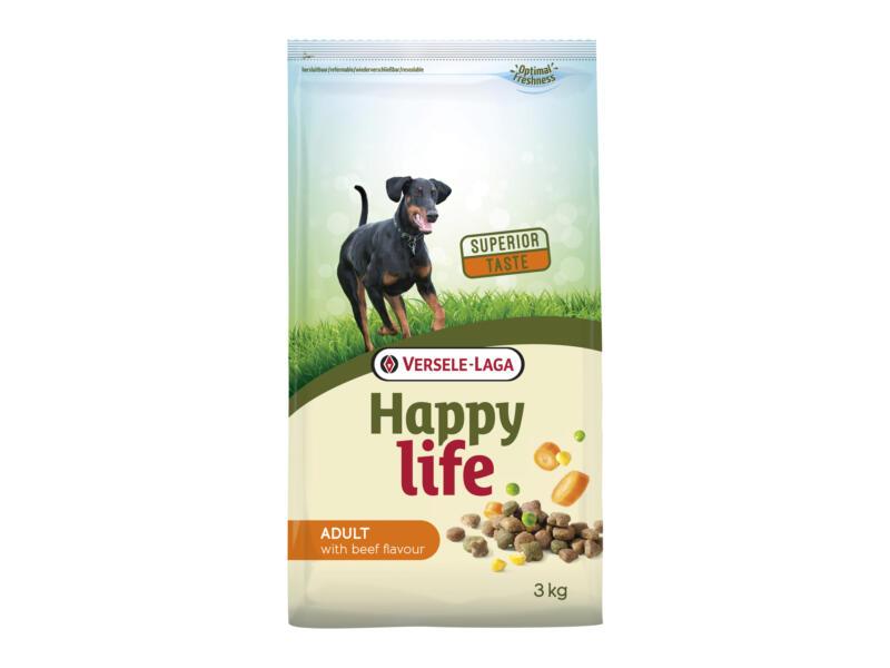 Happy Life Adult croquettes chien boeuf 3kg