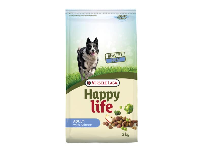 Happy Life Adult croquettes chien saumon 3kg