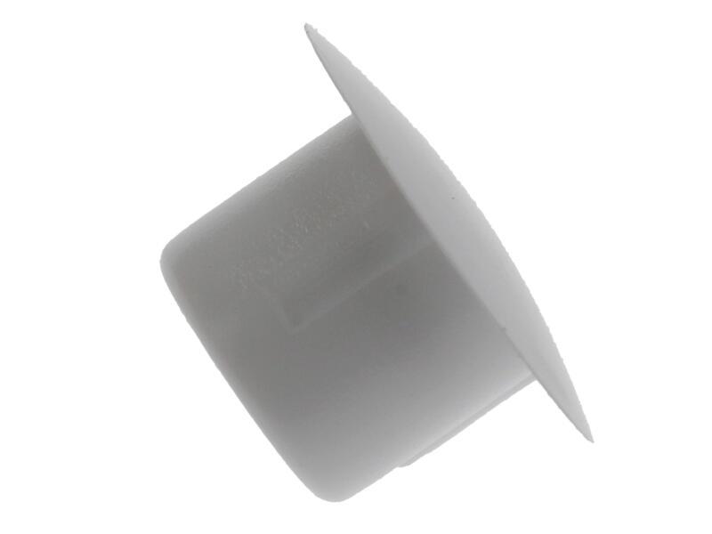 Afdekkapje 6mm wit 12 stuks