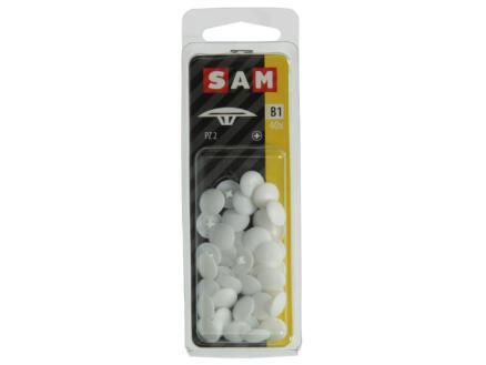 Mack Afdekkapjes voor PZ2-schroeven wit 40 stuks