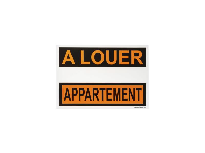 Affiche appartement à louer 33x23 cm